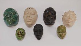 Group 7 Gene Pearson Jamaican Pottery Masks