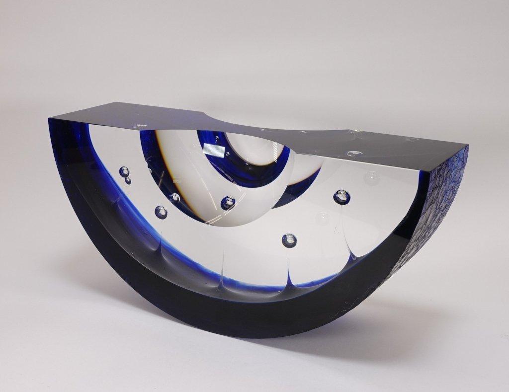 Steven Weinberg Art Glass Regatta Boat Sculpture