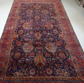 Large Antique Persian Kerman Room Carpet Rug