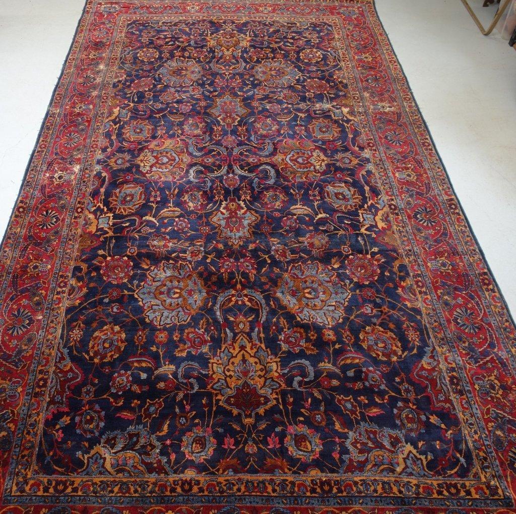 Large Antique Persian Kerman Room Carpet Rug