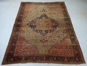 Antique Persian Farahan Sarouk Carpet Room Rug