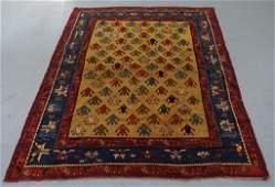 Antique Caucasian Kazak Figural Rug Carpet