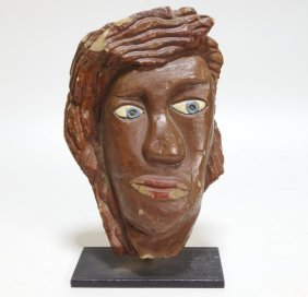 David George Marshall Clay Face Sculpture
