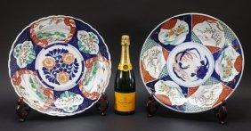 2 Japanese Imari Porcelain Charger Plates