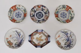 6pc. Japanese Imari Porcelain Bowl Group