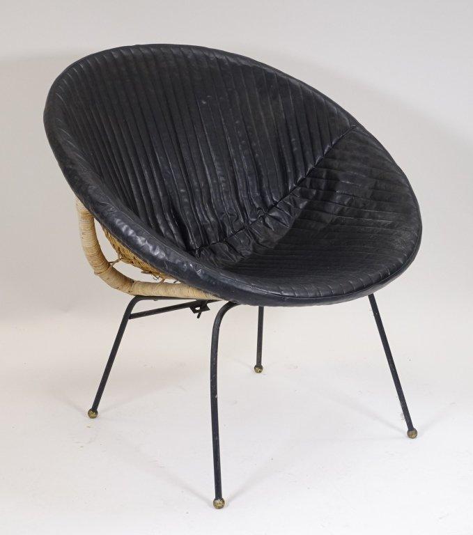 Mid Century Modern CALIF-ASIA Rattan Hoop Chair