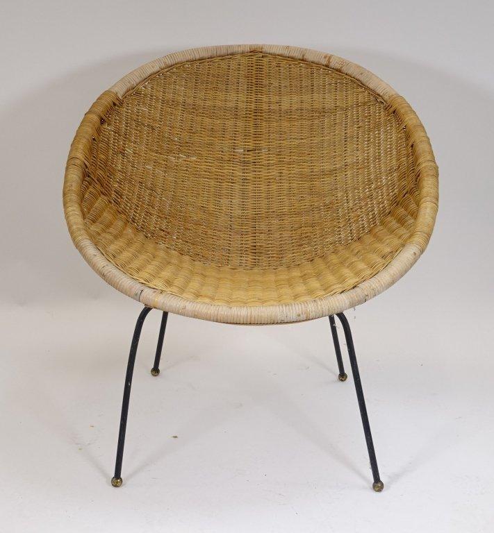 Mid Century Modern CALIF-ASIA Rattan Hoop Chair - 3