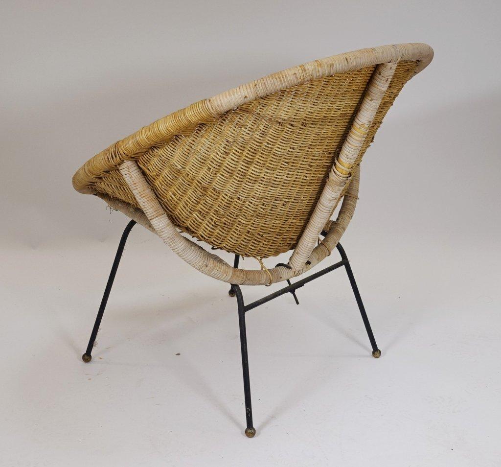 Mid Century Modern CALIF-ASIA Rattan Hoop Chair - 4