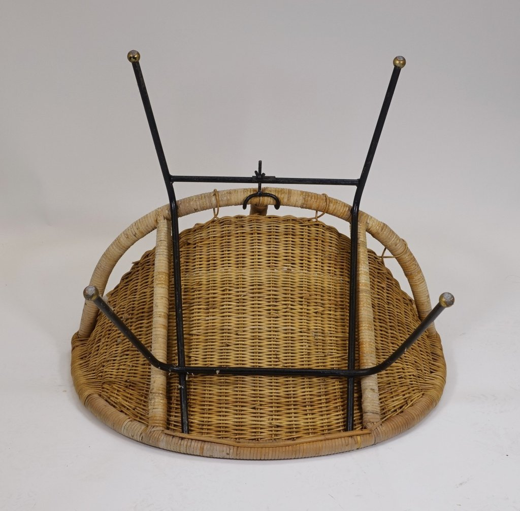 Mid Century Modern CALIF-ASIA Rattan Hoop Chair - 5