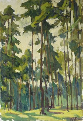 Ivan Kondratevich Gubski Russian Forest Painting