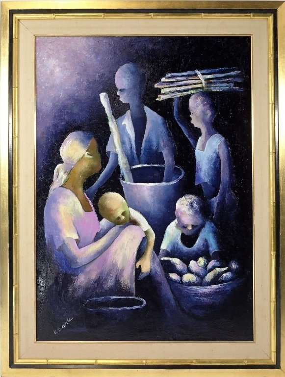 Denis Emile Haitian Expressionist Painting