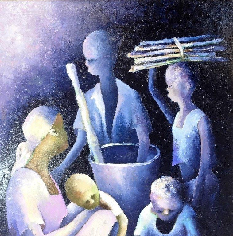 Denis Emile Haitian Expressionist Painting - 2