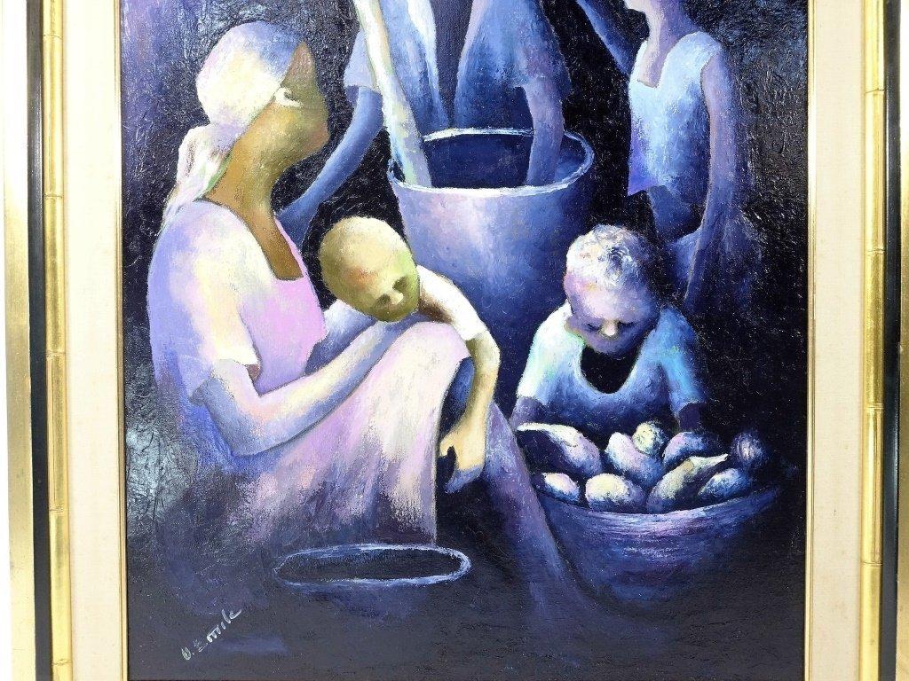 Denis Emile Haitian Expressionist Painting - 3