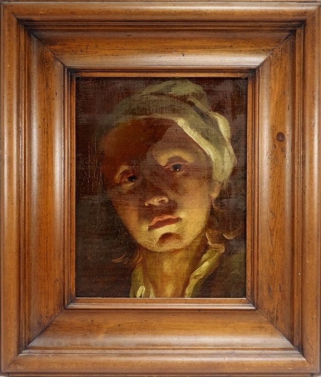 Illuminated Portrait Painting of Young Dutch Girl