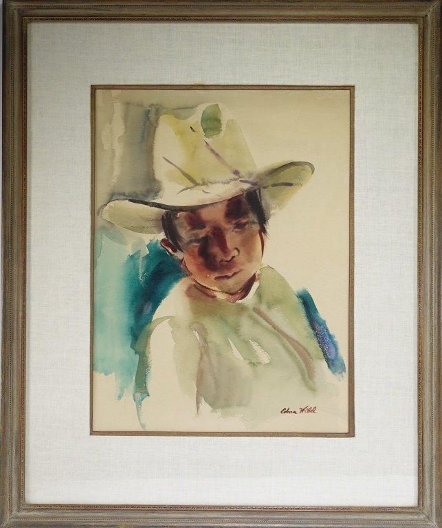 Edna Hibel Rhode Island Portrait Painting of Boy