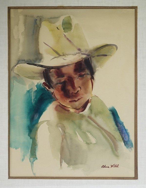 Edna Hibel Rhode Island Portrait Painting of Boy - 2