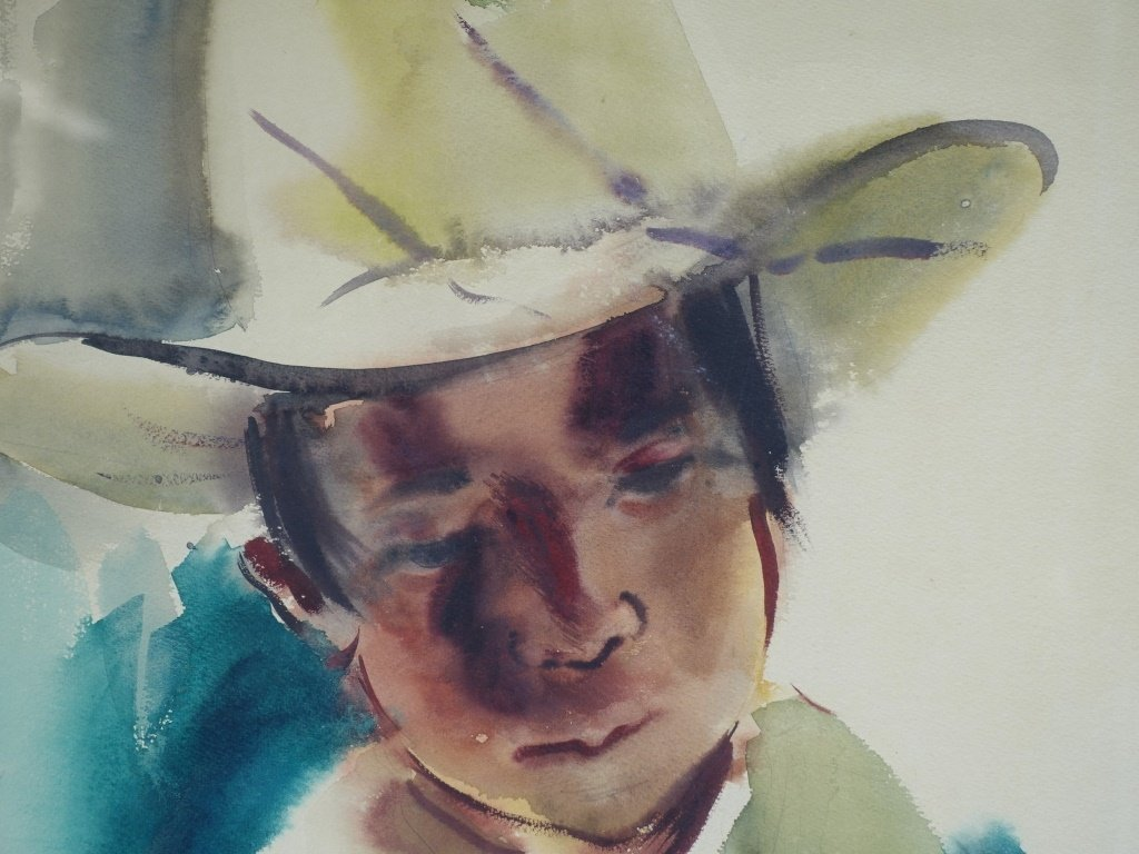 Edna Hibel Rhode Island Portrait Painting of Boy - 3
