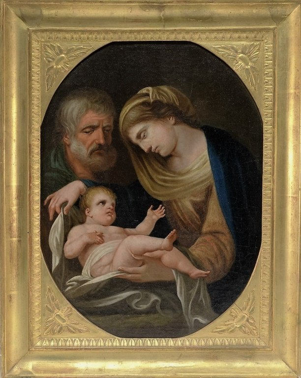 European Old Master Holy Family Painting