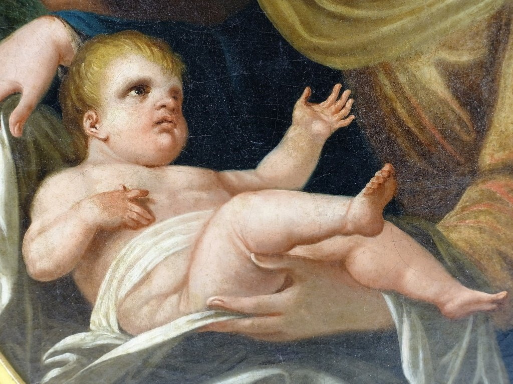 European Old Master Holy Family Painting - 4