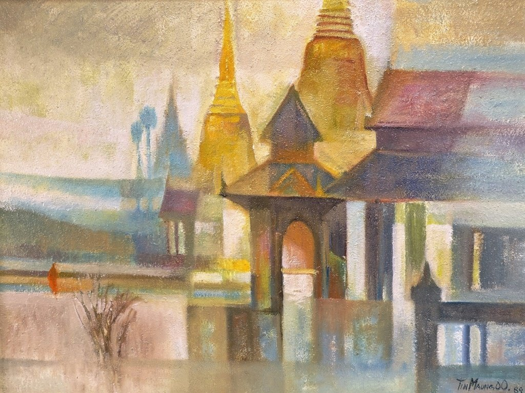 Tin Maung Oo Contemporary Cubist Painting - 2