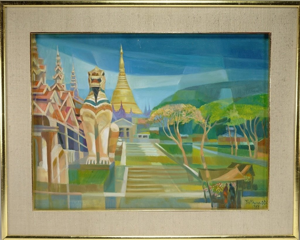 Tin Maung Oo Contemporary Cubist Painting