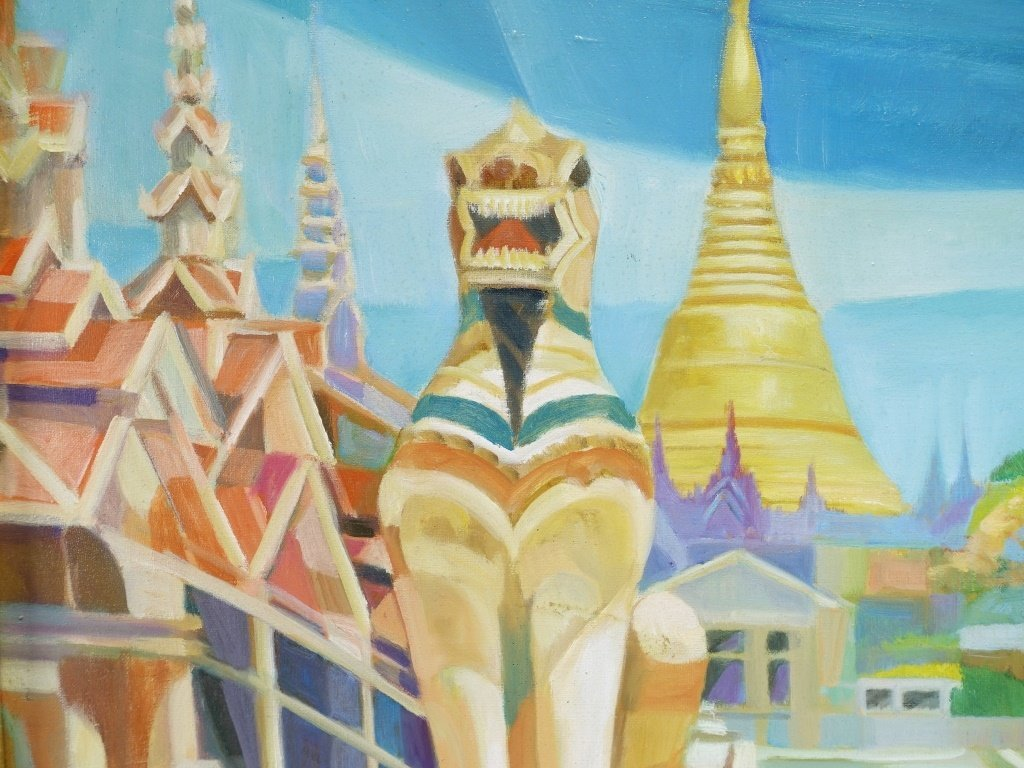 Tin Maung Oo Contemporary Cubist Painting - 4