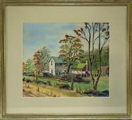 Robert Emmett Owen Farm W/C Painting