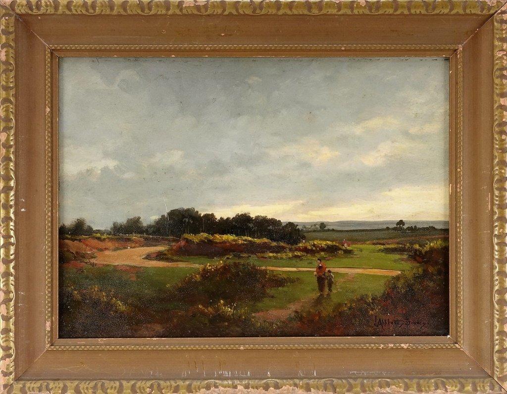 John Appleton Brown Rural Genre Landscape Painting
