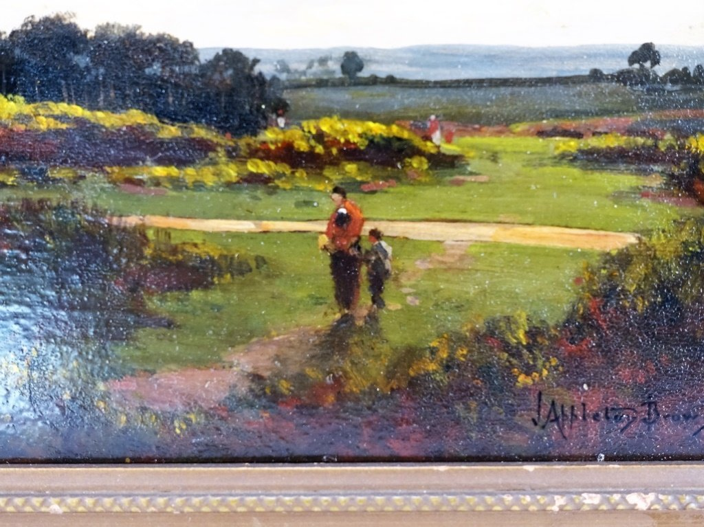 John Appleton Brown Rural Genre Landscape Painting - 3