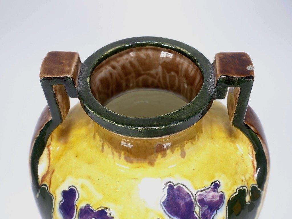 Austrian Art Nouveau Old Moravian Pottery Vase - 2