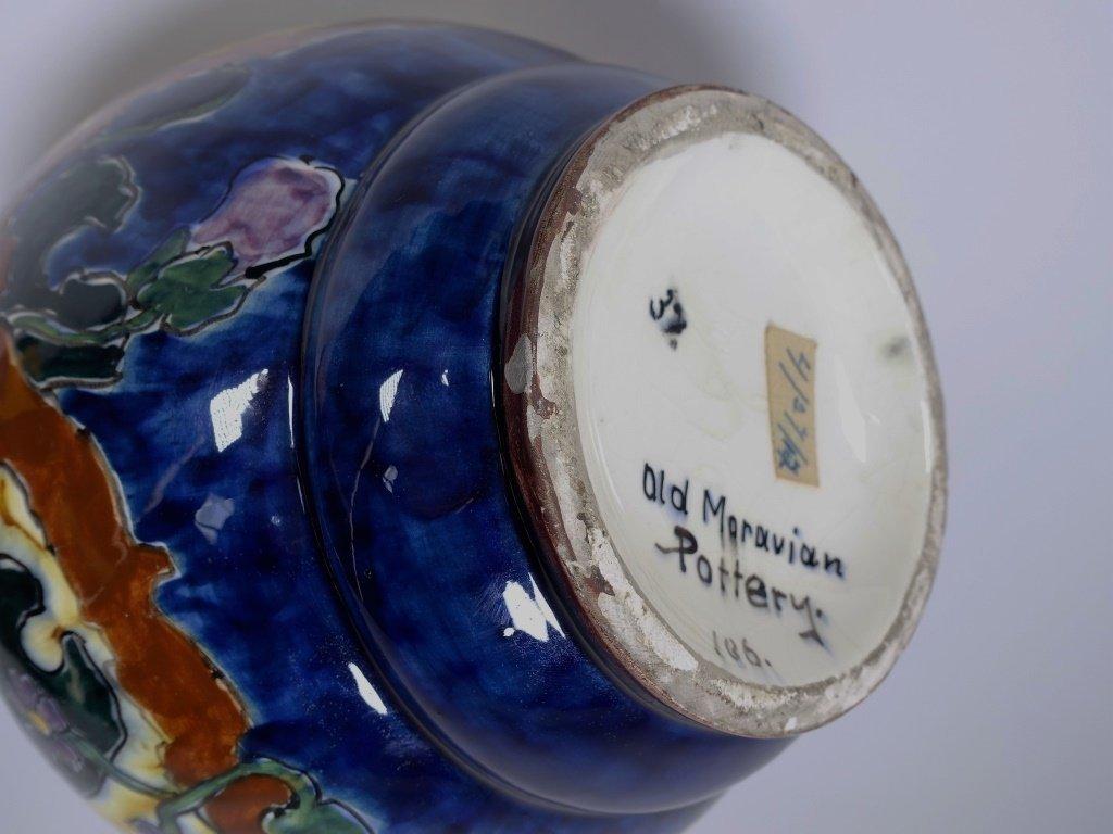 Austrian Art Nouveau Old Moravian Pottery Vase - 6