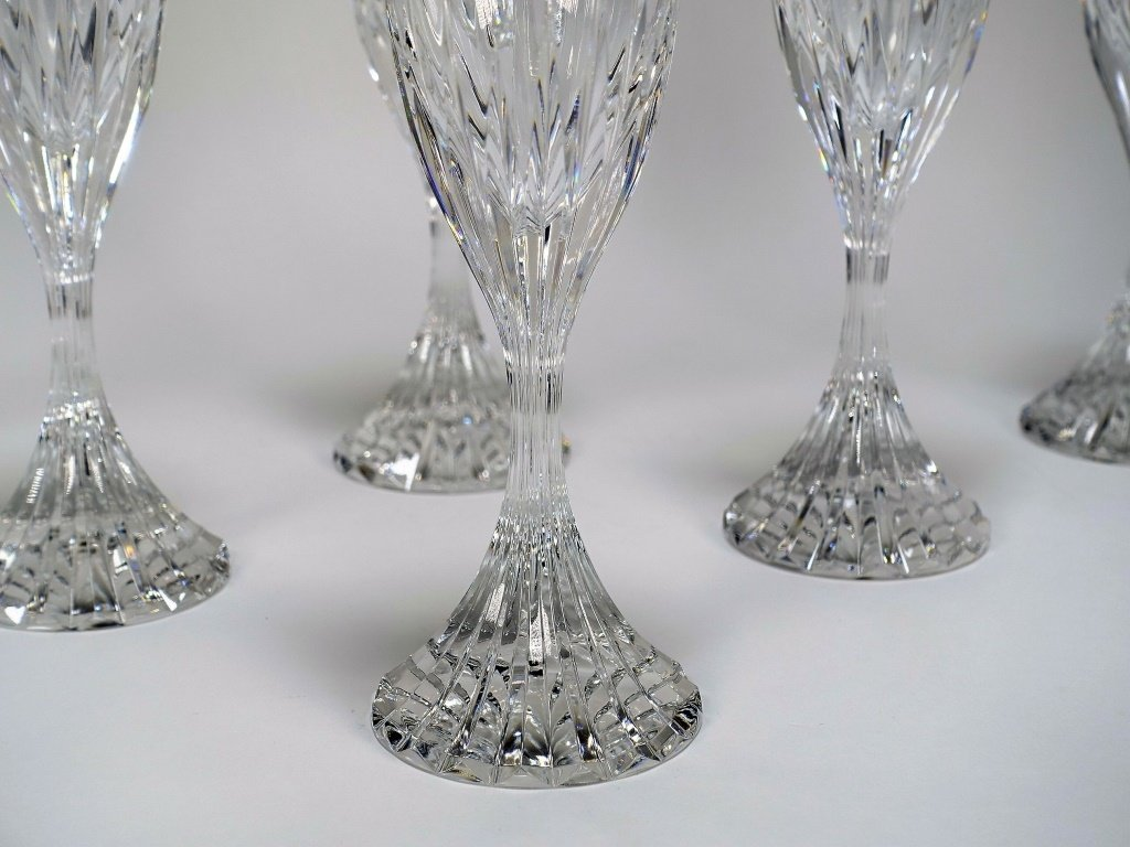 Set of 6 French Baccarat Massena Champagne Flutes - 2