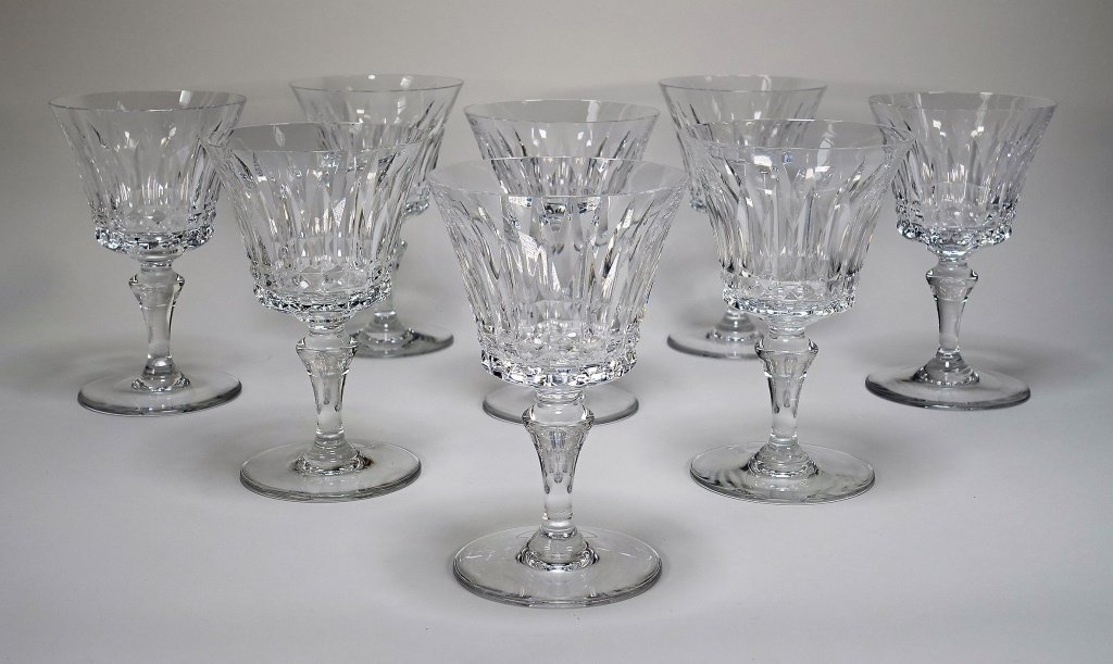 Set of 6 French Baccarat Massena Champagne Flutes - 4