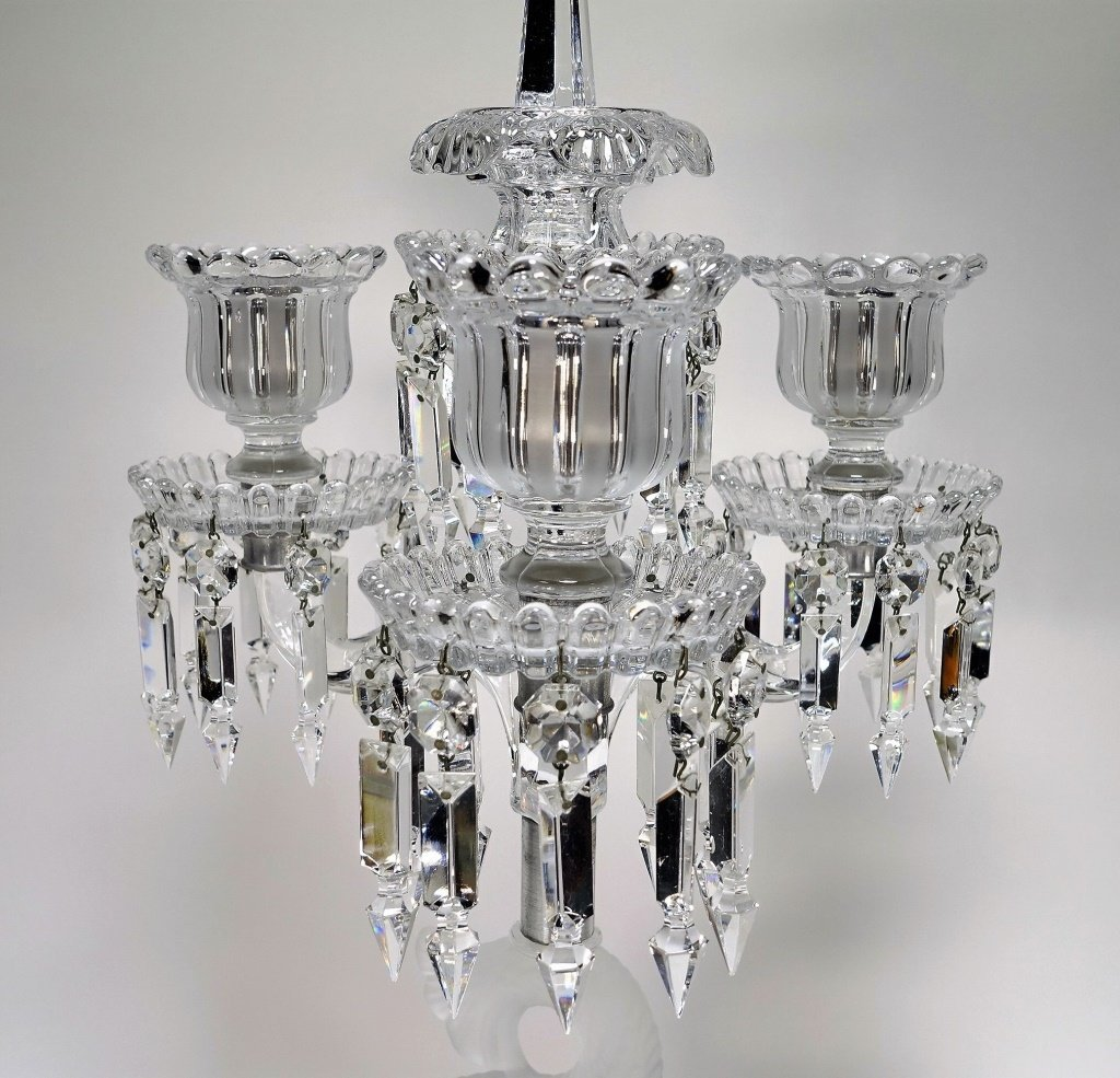 Baccarat Frosted Crystal Dolphin Candelabra - 2