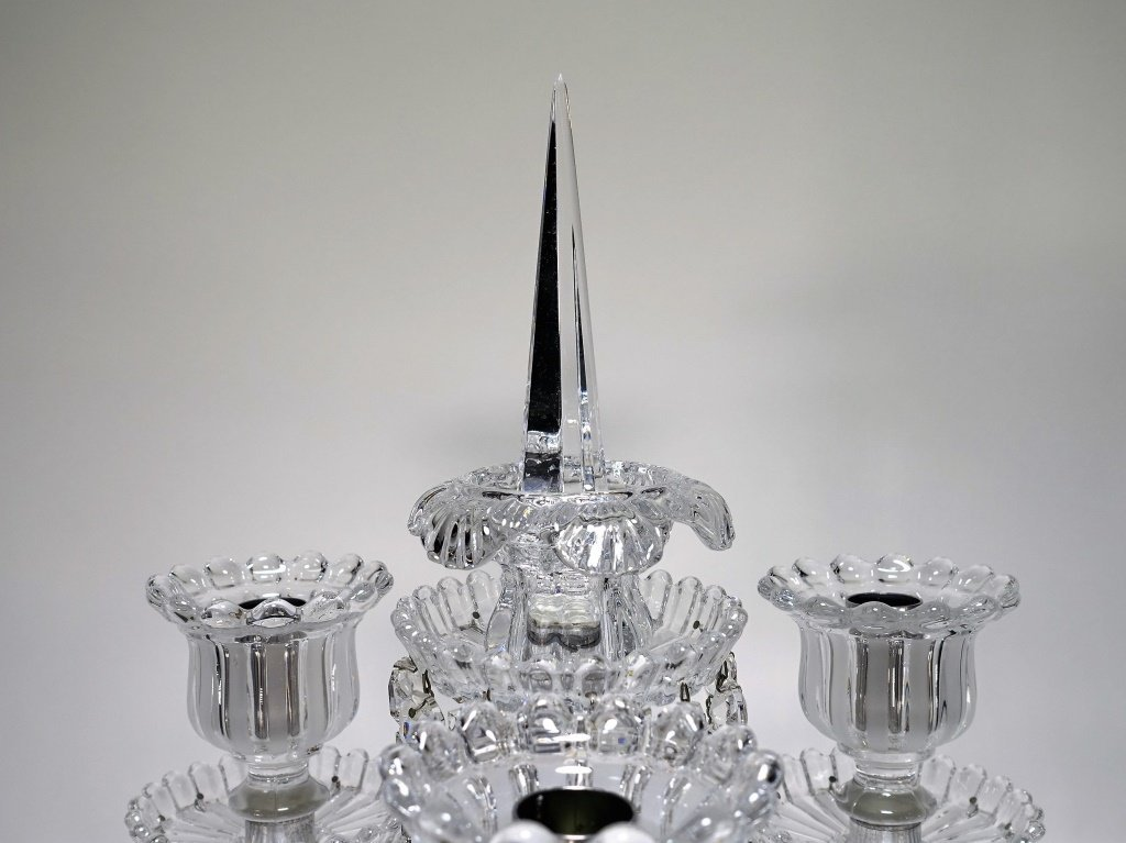 Baccarat Frosted Crystal Dolphin Candelabra - 3