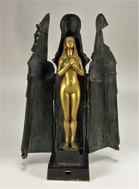 German Princess Aida Mechanical Gilt Bronze - 2