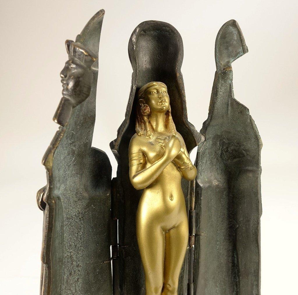 German Princess Aida Mechanical Gilt Bronze - 6