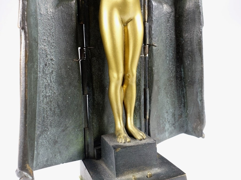 German Princess Aida Mechanical Gilt Bronze - 7