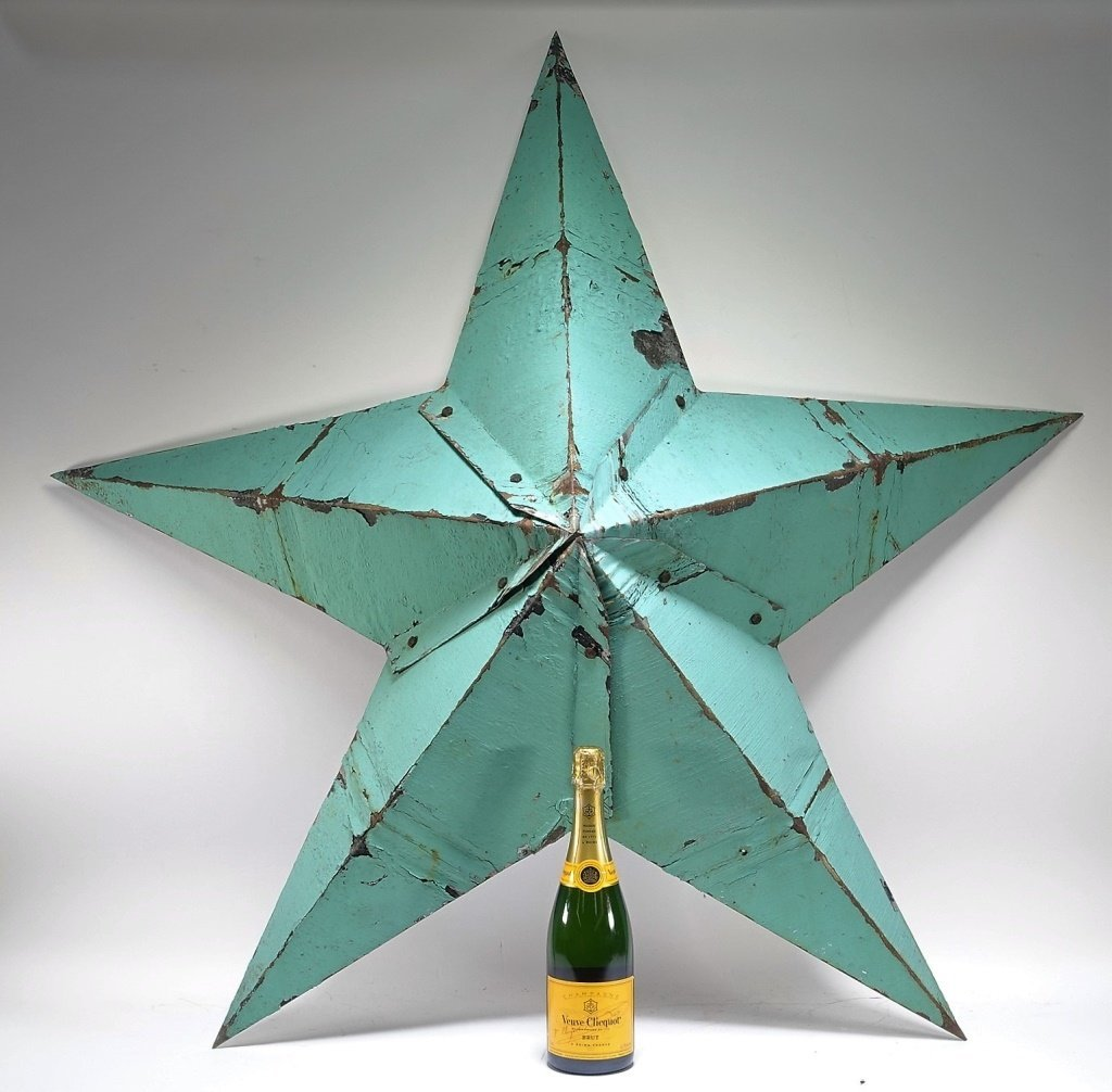 Vintage Sheet Steel Americana Star Sculpture