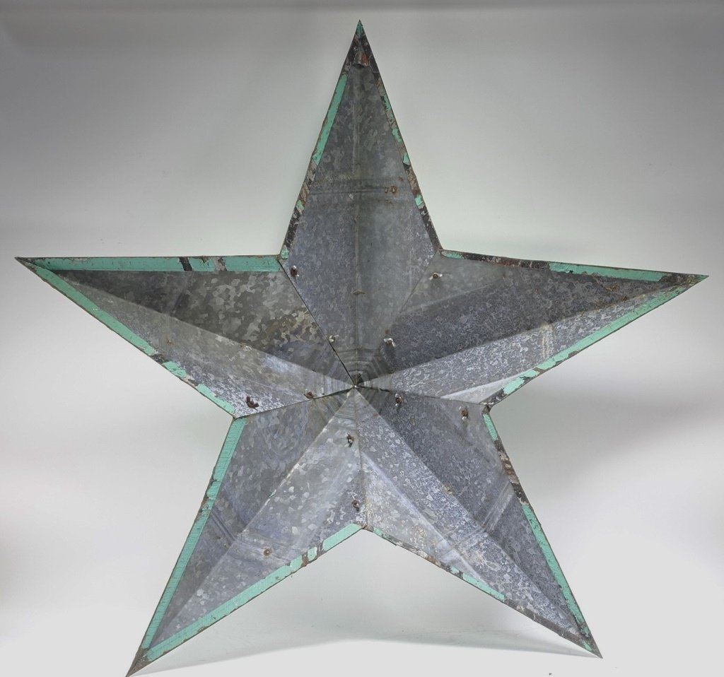 Vintage Sheet Steel Americana Star Sculpture - 4