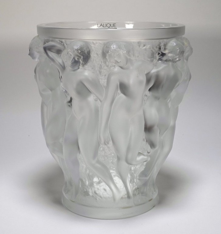 Lalique Bacchantes Clear Crystal Vase