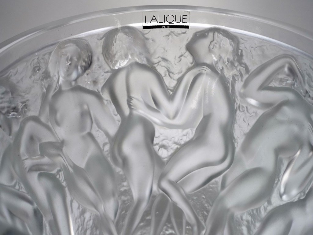 Lalique Bacchantes Clear Crystal Vase - 3