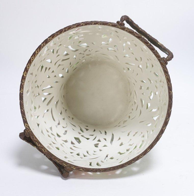 German Von Schierholz Porcelain Reticulated Basket - 5