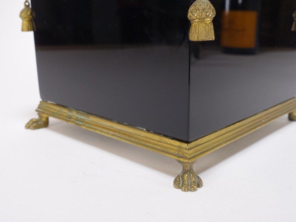 French Amethyst Glass Gilt Bronze Mount Cache Pot - 4