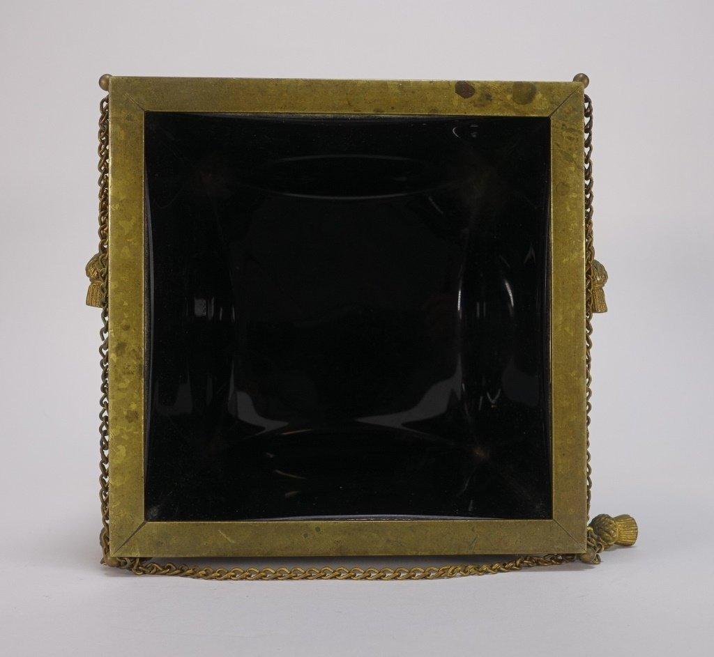 French Amethyst Glass Gilt Bronze Mount Cache Pot - 5