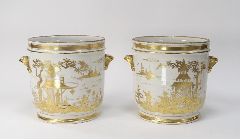 PR French Chinoiserie Samson Porcelain Cache Pot