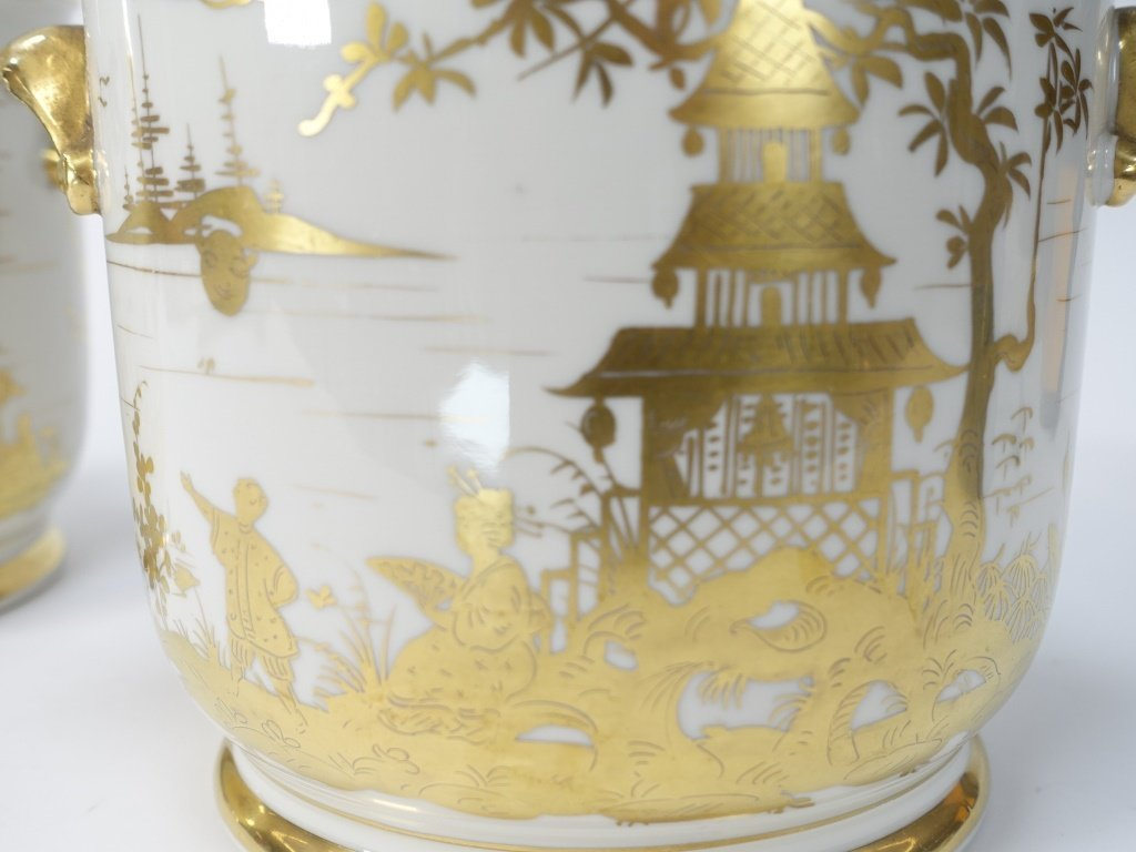 PR French Chinoiserie Samson Porcelain Cache Pot - 3
