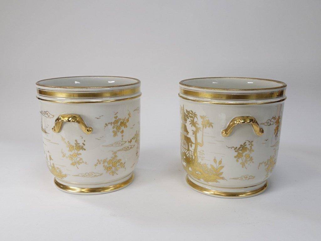 PR French Chinoiserie Samson Porcelain Cache Pot - 4