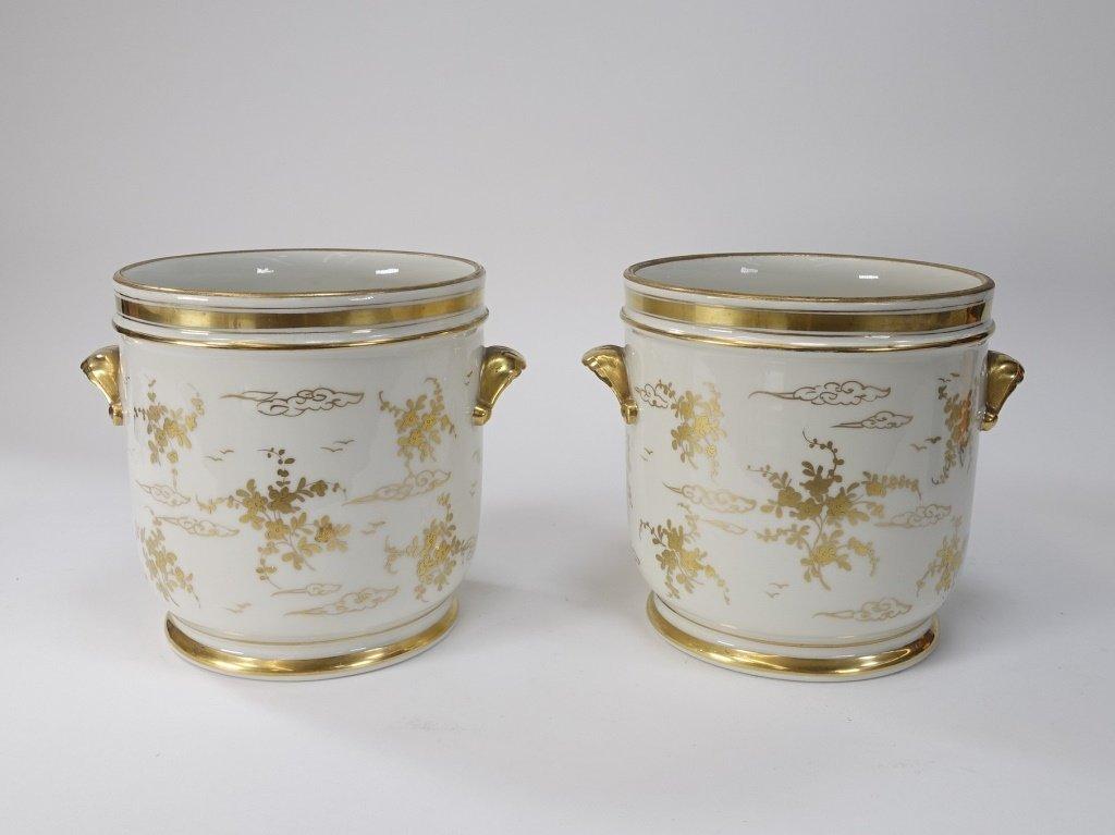 PR French Chinoiserie Samson Porcelain Cache Pot - 5