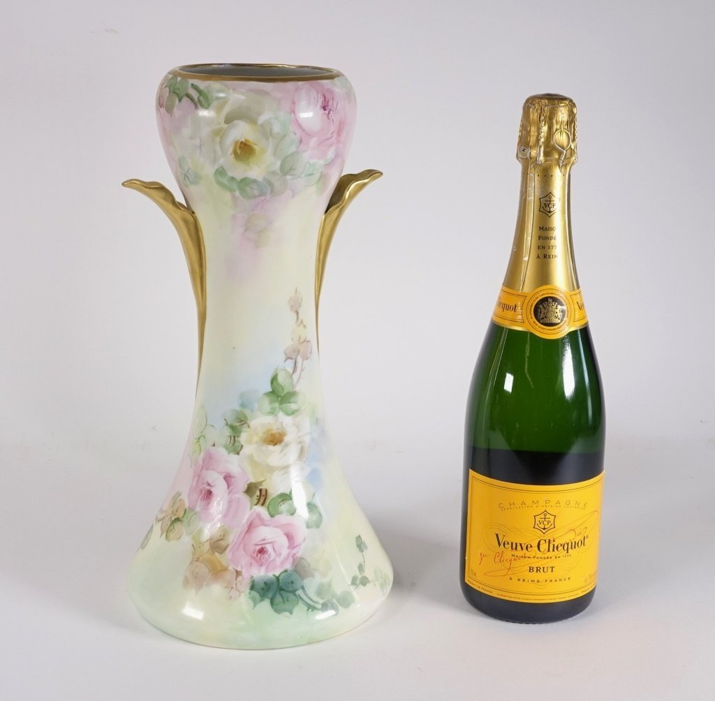 GDA French Limoges Porcelain MW Poole Signed Vase